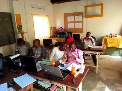 Teachers engaging each other during a workshop training