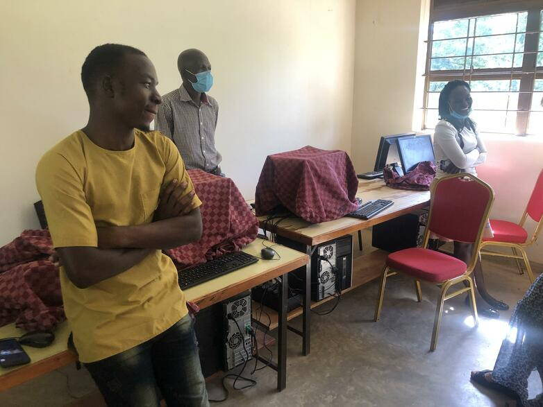 Instructors of Kiwoko Nursing and Lab in the computer lab